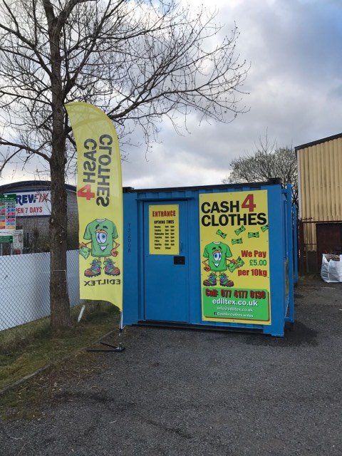 Cash for Clothes Cardiff pay by the kilo for your unwanted clean clothes, hats, belts, bags, shoes in pairs, underwear. We also buy mobile phones, cds, dvd's, bedding, cosmetics and bric-a-brac.